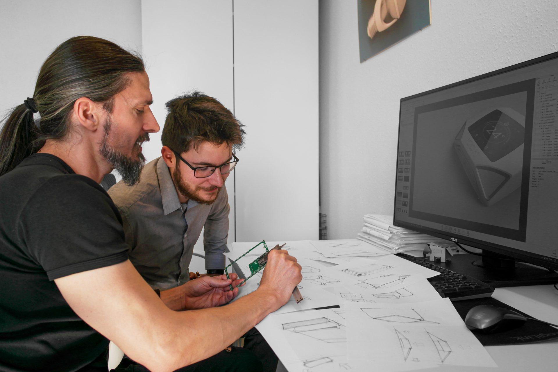 Terméktervezés és ipari prototípus tervezés - munka közben
